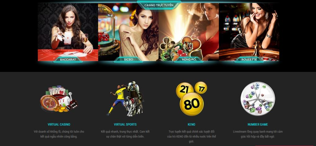 Giao diện website LUCKY88